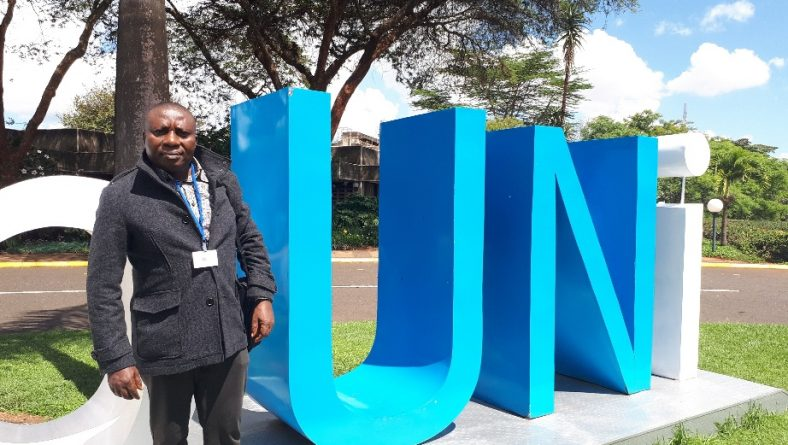 Photos: Celestine AkpoBari with other participants at the United nations Environment Consultation meeting in Nairobi, Kenya