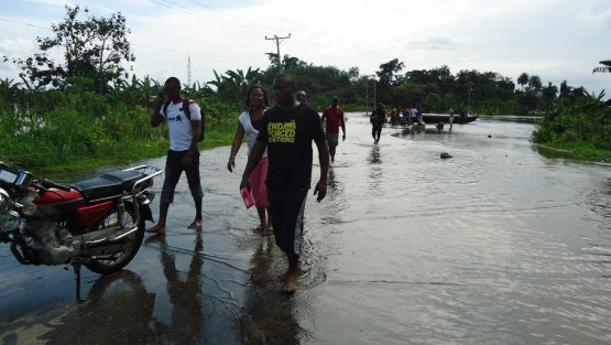Photos: Celestine AkpoBari on field tour of flooded communities in the Niger Delta
