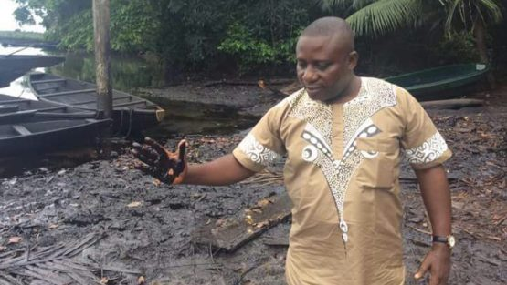 Photos: Celestine AkpoBari observing spill sites in Ogoni